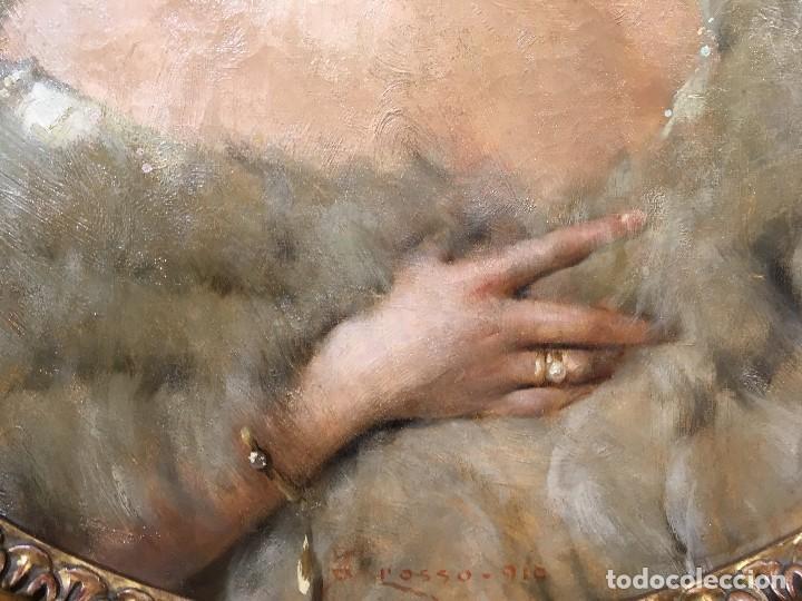Arte: Giacomo Grosso (1860-1938) Pintor Italiano - Óleo sobre tela - Retrato - Foto 3 - 129555187