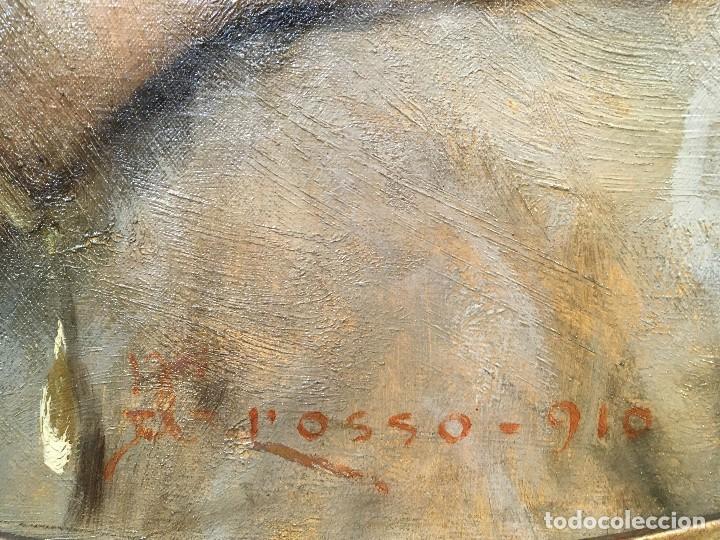 Arte: Giacomo Grosso (1860-1938) Pintor Italiano - Óleo sobre tela - Retrato - Foto 4 - 129555187