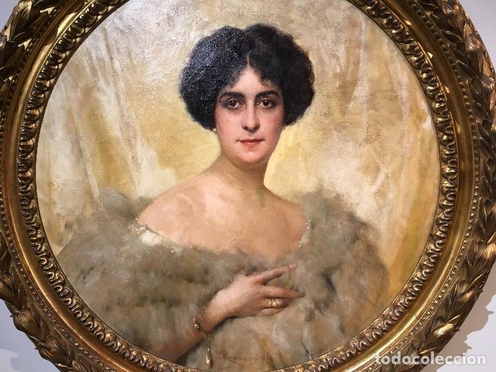 Arte: Giacomo Grosso (1860-1938) Pintor Italiano - Óleo sobre tela - Retrato - Foto 5 - 129555187