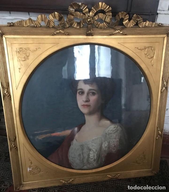 GONZALO BILBAO MARTÍNEZ (1860-1938) PINTOR ESPAÑOL - ÓLEO SOBRE TELA - RETRATO MARÍA SOTO (Arte - Pintura - Pintura al Óleo Moderna sin fecha definida)