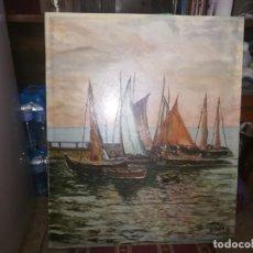 Arte: ÓLEO SOBRE TABLEX ESCENA DE MAR FIRMADA ORTEGA MIREN FOTOS. Lote 129617775