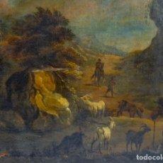 Arte: ÓLEO DE ESCUELA ITALIANA S XVIII- ANONIMO- NECESITA ALGUNA RESTAURACIÓN. Lote 129073707