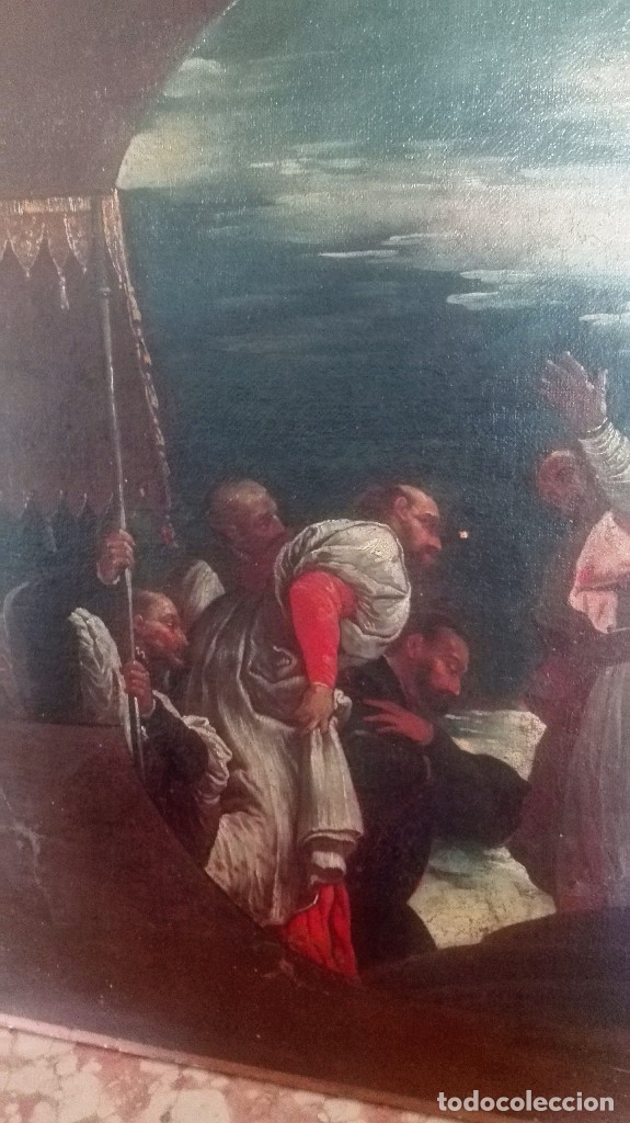 Arte: Escuela Italiana siglo XVIII. San Nicolás. Después Veronese. Gran dimensión - Foto 5 - 126017015