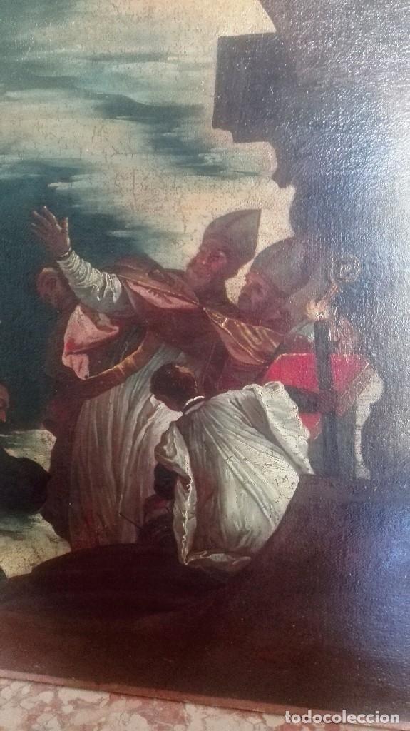 Arte: Escuela Italiana siglo XVIII. San Nicolás. Después Veronese. Gran dimensión - Foto 6 - 126017015