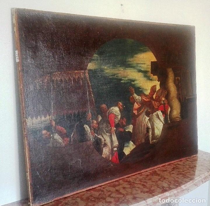 ESCUELA ITALIANA SIGLO XVIII. SAN NICOLÁS. DESPUÉS VERONESE. GRAN DIMENSIÓN (Arte - Pintura - Pintura al Óleo Antigua siglo XVIII)
