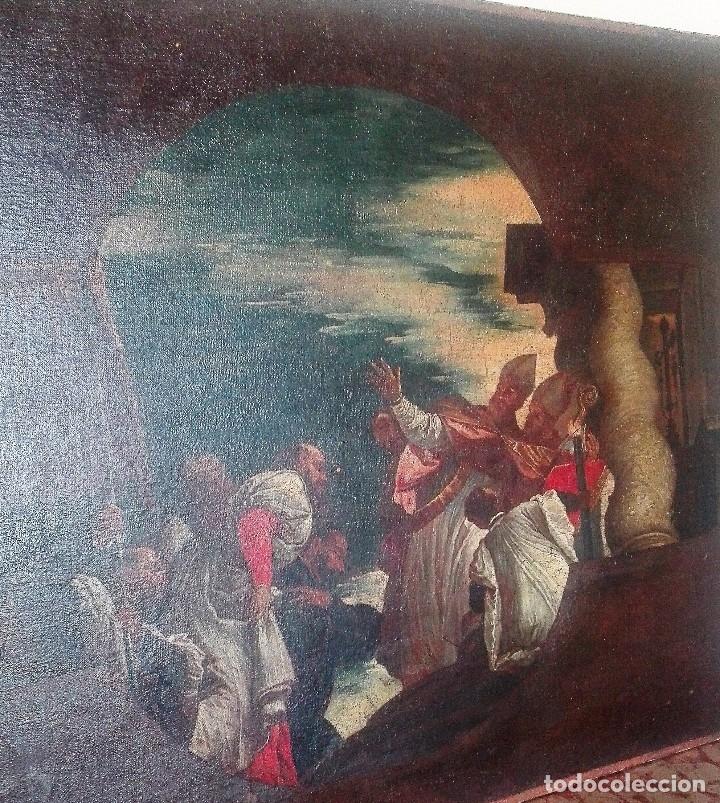 Arte: Escuela Italiana siglo XVIII. San Nicolás. Después Veronese. Gran dimensión - Foto 4 - 126017015