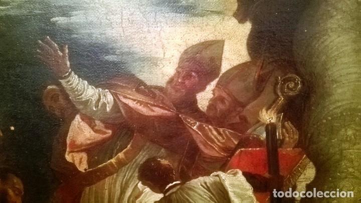 Arte: Escuela Italiana siglo XVIII. San Nicolás. Después Veronese. Gran dimensión - Foto 7 - 126017015