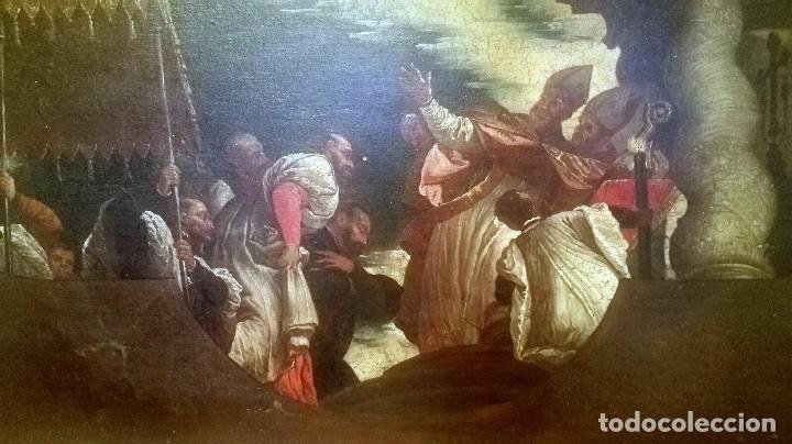 Arte: Escuela Italiana siglo XVIII. San Nicolás. Después Veronese. Gran dimensión - Foto 2 - 126017015