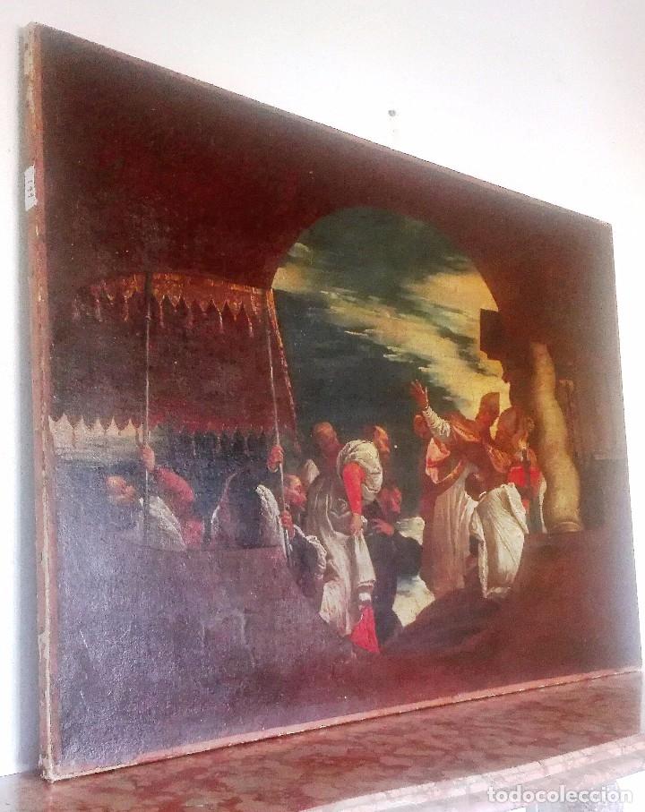Arte: Escuela Italiana siglo XVIII. San Nicolás. Después Veronese. Gran dimensión - Foto 3 - 126017015
