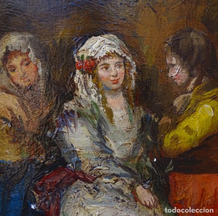 Arte: Óleo sobre tela s.xix.muy buen trazo.Circulo Lucas Velázquez-Villamil. - Foto 2 - 238682500