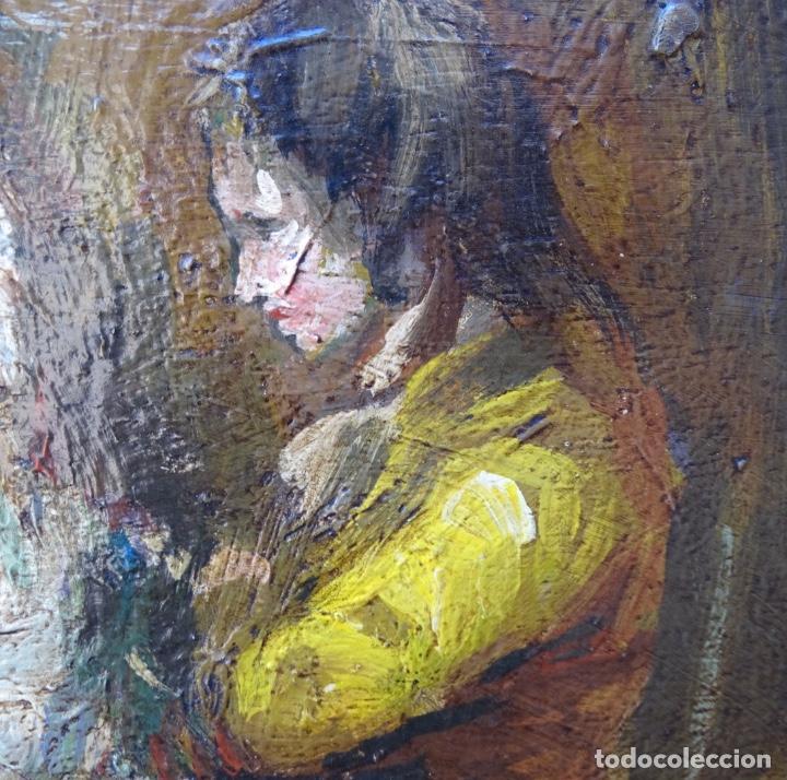 Arte: Óleo sobre tela s.xix.muy buen trazo.Circulo Lucas Velázquez-Villamil. - Foto 5 - 238682500