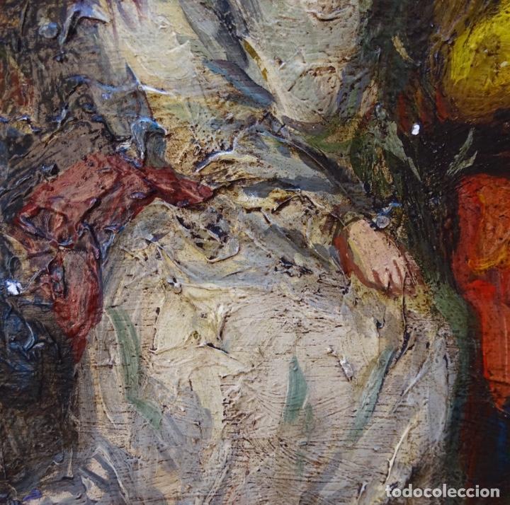 Arte: Óleo sobre tela s.xix.muy buen trazo.Circulo Lucas Velázquez-Villamil. - Foto 6 - 238682500