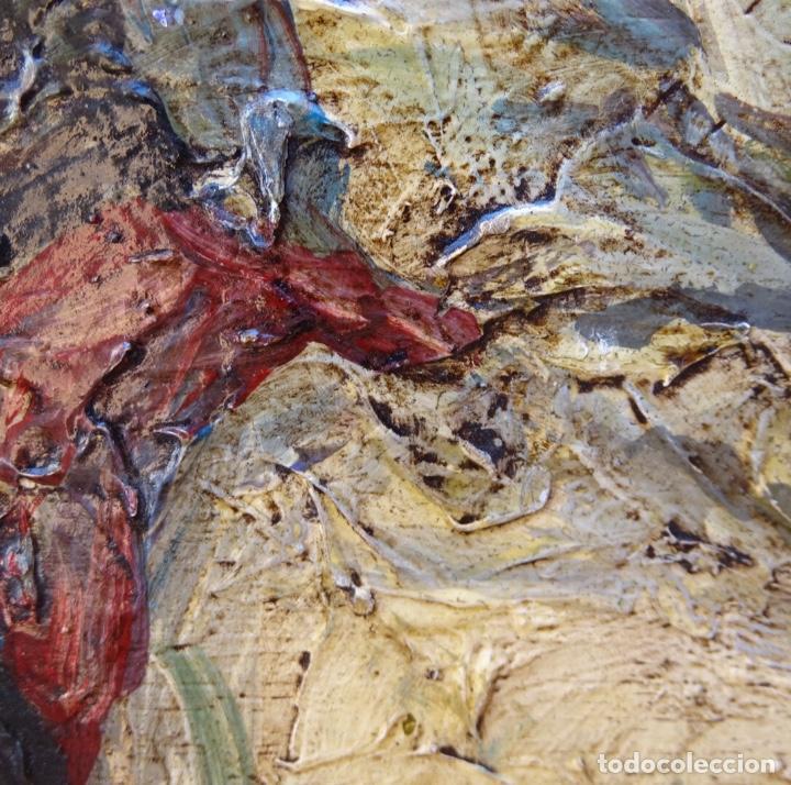 Arte: Óleo sobre tela s.xix.muy buen trazo.Circulo Lucas Velázquez-Villamil. - Foto 7 - 238682500