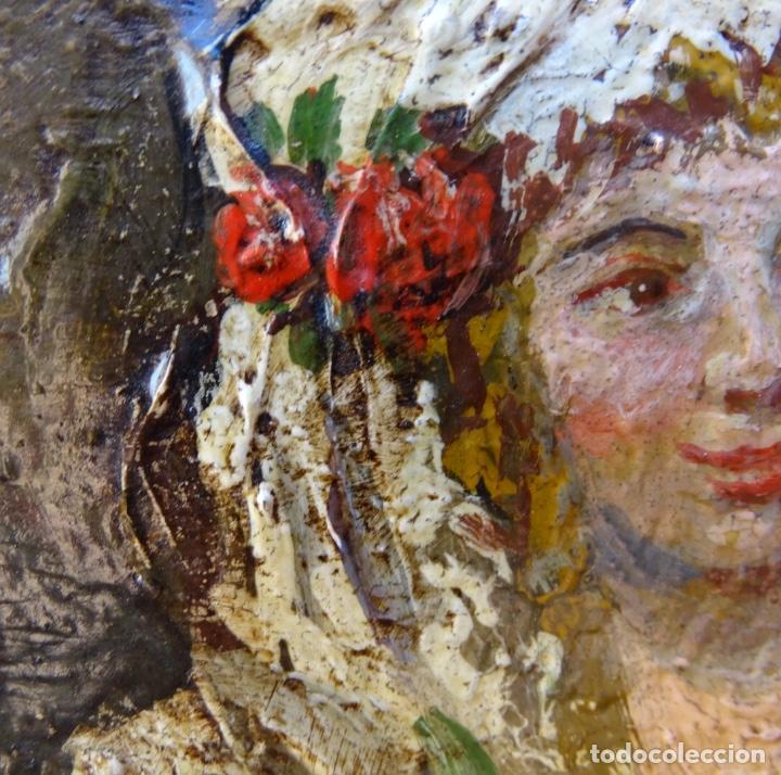 Arte: Óleo sobre tela s.xix.muy buen trazo.Circulo Lucas Velázquez-Villamil. - Foto 8 - 238682500