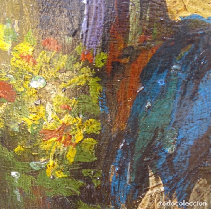 Arte: Óleo sobre tela s.xix.muy buen trazo.Circulo Lucas Velázquez-Villamil. - Foto 9 - 238682500