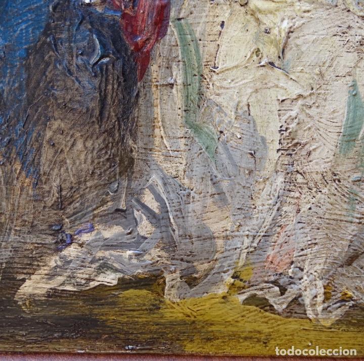 Arte: Óleo sobre tela s.xix.muy buen trazo.Circulo Lucas Velázquez-Villamil. - Foto 10 - 238682500
