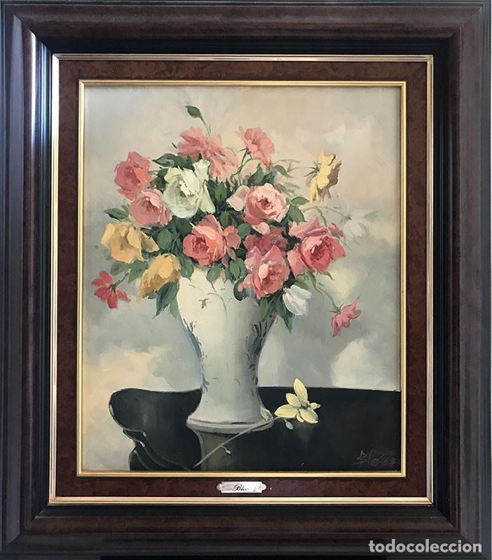 OLEO SOBRE LIENZO FIRMADO BLASCO ESCENA BODEGON (Arte - Pintura - Pintura al Óleo Contemporánea )