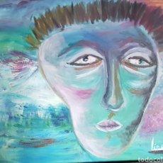 Arte: CATALINA FRANCO INQUIETUD. OBRA EXPRESIONISTA OLEO SOBRE LIENZO EN BASTIDOR 40X50 CM.. Lote 128051490