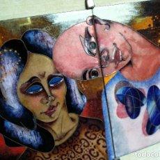 Arte: DUES PECES ESMALTADES: E.OLIVÉ. Lote 130037167