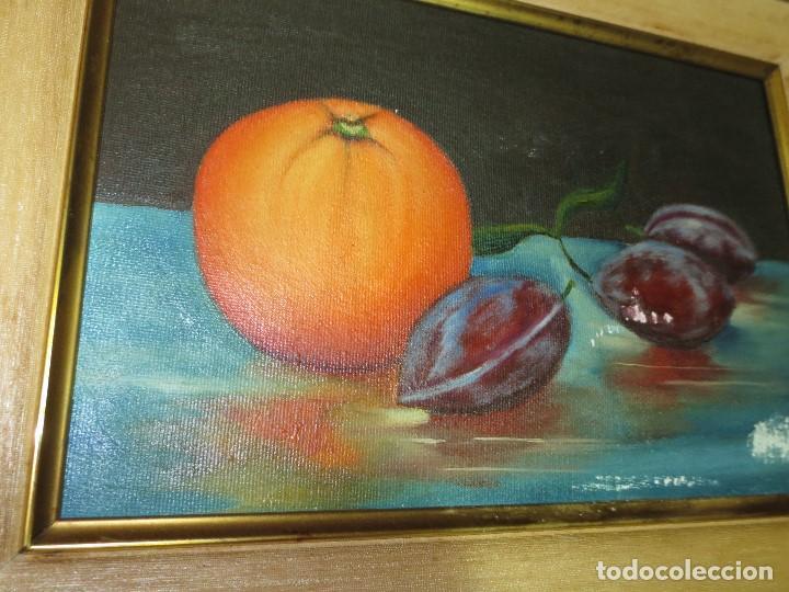 OCASION ! OLEO PINTURA BODEGON CON NARANJA (Arte - Pintura - Pintura al Óleo Antigua sin fecha definida)