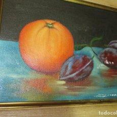 Arte: OCASION ! OLEO PINTURA BODEGON CON NARANJA. Lote 130043863