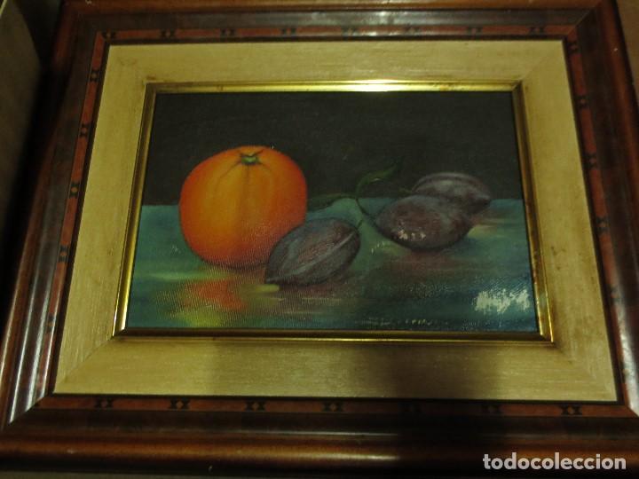 Arte: OCASION ! OLEO PINTURA BODEGON CON NARANJA - Foto 2 - 130043863