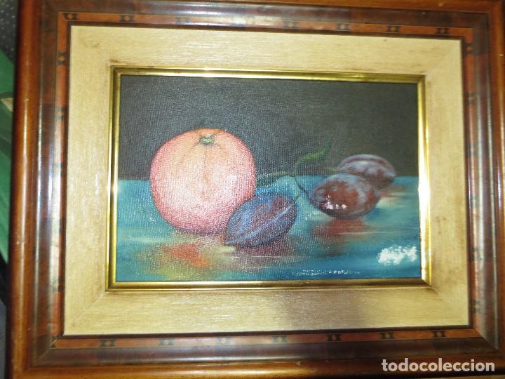 Arte: OCASION ! OLEO PINTURA BODEGON CON NARANJA - Foto 3 - 130043863