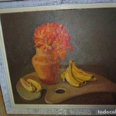 Arte: JOAQUINA RODRIGUEZ SAPENA , ALICANTE 1956 ANTIGUA PINTURA PALETA DE LA PINTORA MEDALLA PLATA. Lote 130083379