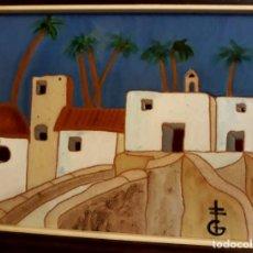 Arte: PINTURA PAISAJE SOBRE AZULEJO ENMARCADO DE GERÁRD DE ALICANTE, ENMARCADO BUEN ESTADO. Lote 130085703
