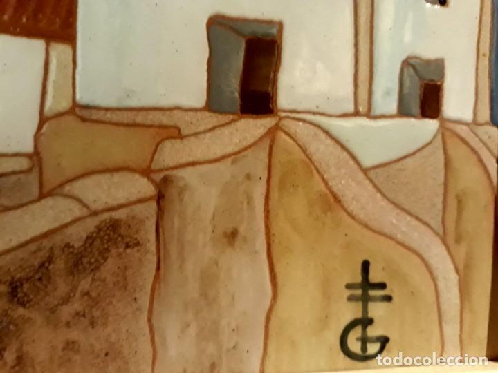 Arte: pintura paisaje sobre azulejo enmarcado de gerárd de alicante, enmarcado buen estado - Foto 3 - 130085703