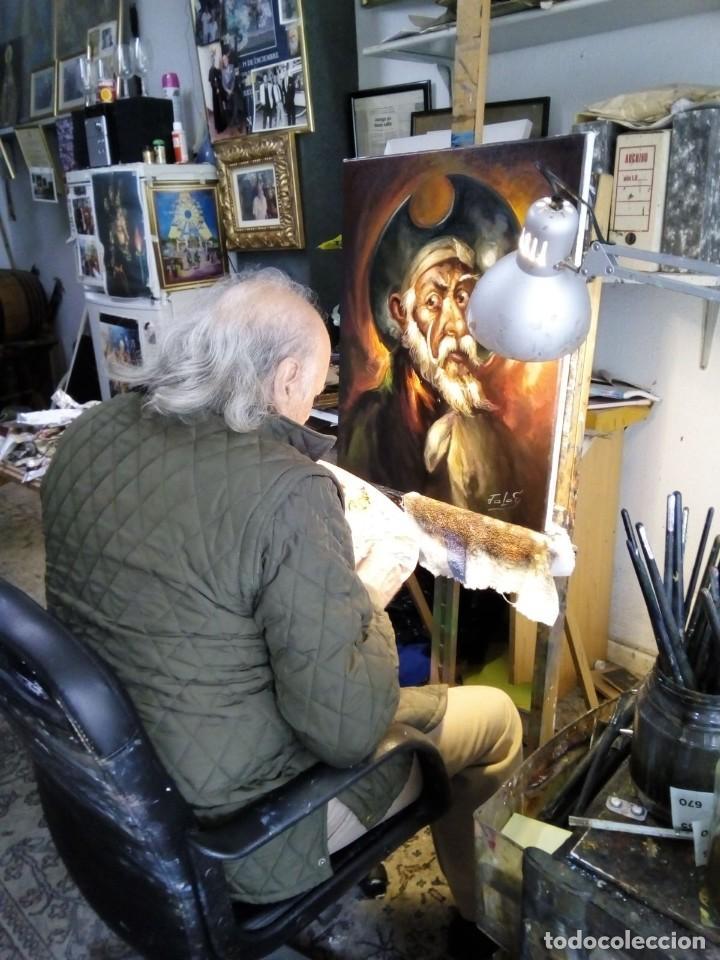 Arte: QUIJOTE DE JOLOGA. LIENZO 65X54. ELIGE MARCO GRATIS A TU GUSTO. - Foto 3 - 130121583