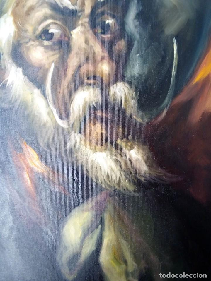 Arte: QUIJOTE DE JOLOGA. LIENZO 65X54. ELIGE MARCO GRATIS A TU GUSTO. - Foto 6 - 130121583