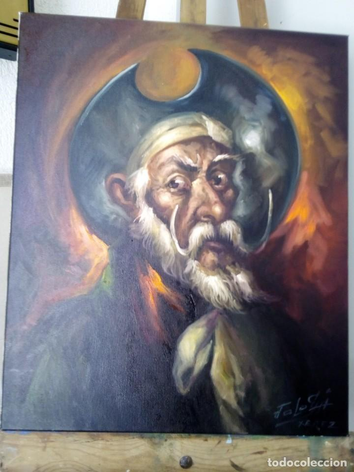 Arte: QUIJOTE DE JOLOGA. LIENZO 65X54. ELIGE MARCO GRATIS A TU GUSTO. - Foto 11 - 130121583