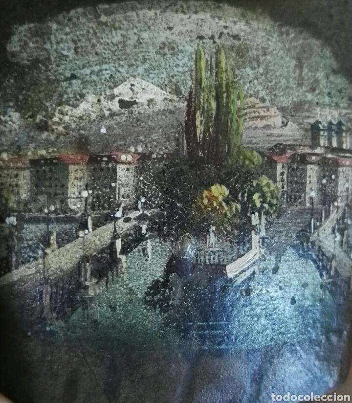 Arte: Miniatura pintura oleo sobre cencerro de bronce pequeño de cabra Yucatán - Foto 2 - 130123242