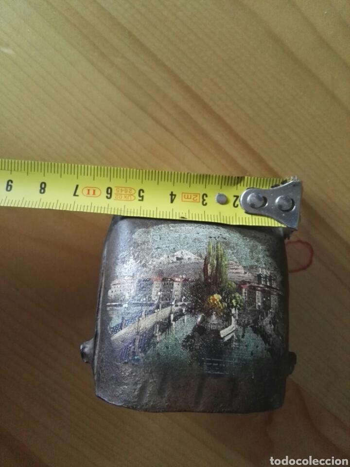 Arte: Miniatura pintura oleo sobre cencerro de bronce pequeño de cabra Yucatán - Foto 6 - 130123242