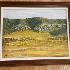 Arte: ÓLEO PAISAJE DE ARAGÓN. MARÍA DE HUERVA. DEL PINTOR L.LEDO. FIRMADO AÑO 79. Lote 130156619