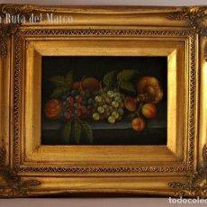 Arte: C. FRANCO. BODEGÓN. CUADRO ENMARCADO DE ÓLEO SOBRE TABLERO.. Lote 130157775