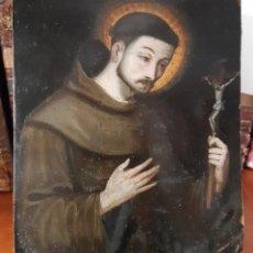 Arte: ÓLEO SOBRE COBRE DEL SIGLO XVIII. SAN FRANCISCO. Lote 130161459