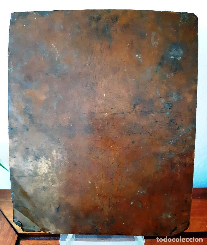 Arte: Óleo sobre cobre del siglo XVIII. San Francisco - Foto 4 - 130161459