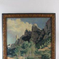 Arte: A-231OLEO SOBRE LIENZO.VISTA DE MONTSERRAT.POR MIQUEL UTRILLO.BARCELONA.1862-1934.. Lote 130250846