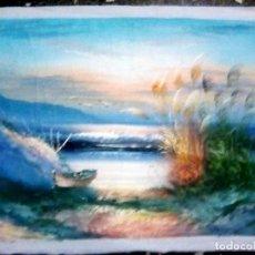 Arte: PRECIOSA OBRA PINTURA OLEO DE - LA ALBUFERA - AUTOR DESCONOCIDO.EN TELA 68X47 CMS. Lote 130287654