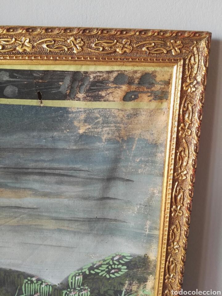 Arte: Espectacular pintura india de grandes dimensiones oleo sobre lienzo o seda muy antiguo - Foto 4 - 130339411