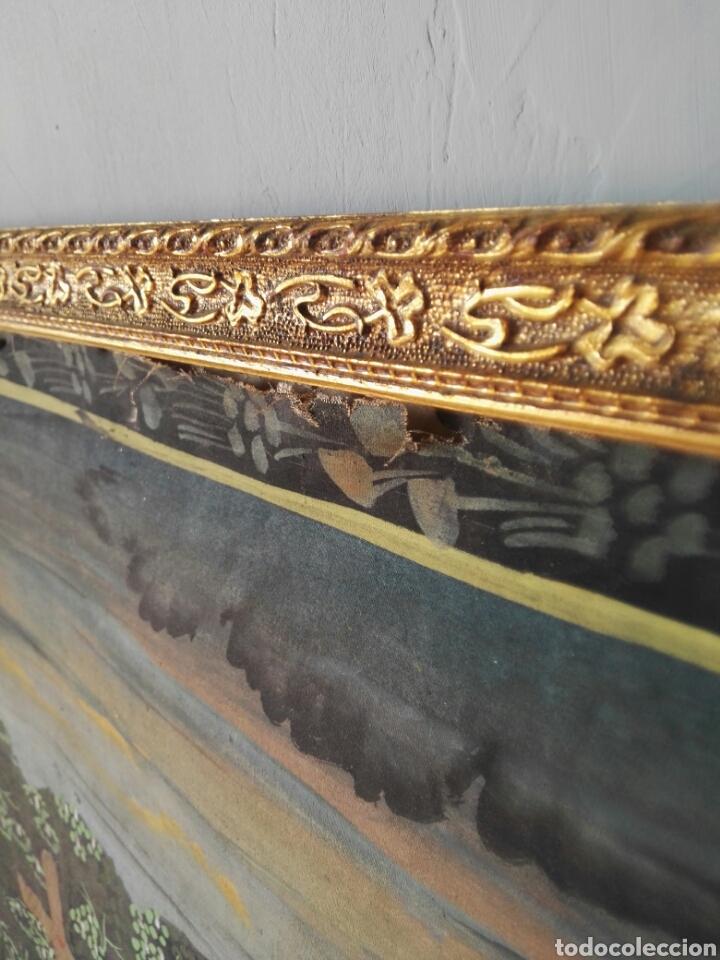 Arte: Espectacular pintura india de grandes dimensiones oleo sobre lienzo o seda muy antiguo - Foto 6 - 130339411