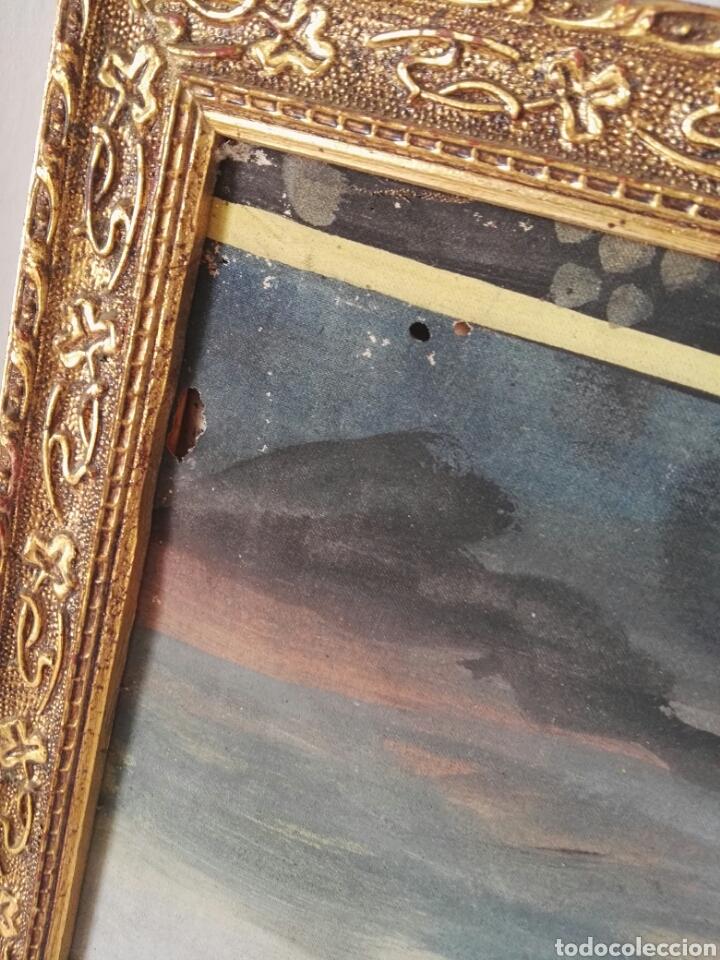 Arte: Espectacular pintura india de grandes dimensiones oleo sobre lienzo o seda muy antiguo - Foto 13 - 130339411