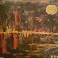 Arte: OLEO SOBRE PAPEL. OBRA ORIGINAL CATALINA FRANCO. LUNA LLENA. Lote 130361020