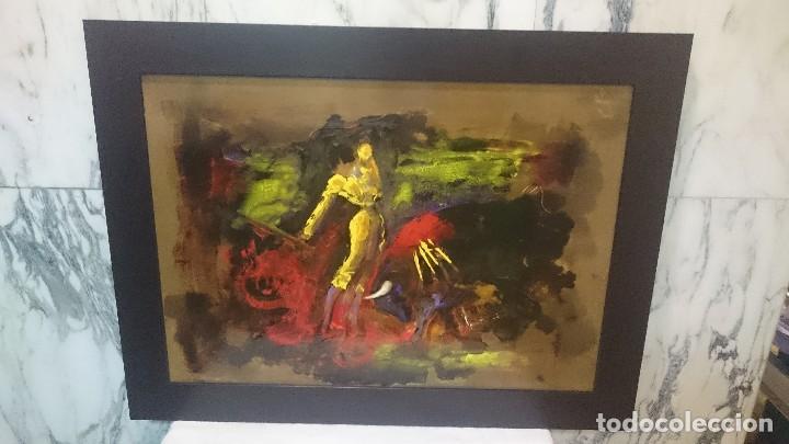 OLEO DE TORERO SOBRE CHAPA , PRECIOSO (Arte - Pintura - Pintura al Óleo Contemporánea )