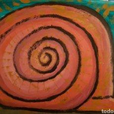 Arte: OLEO SOBRE PAPEL.23X34 CM.OBRA ORIGINAL FIRMADA.. Lote 130524072