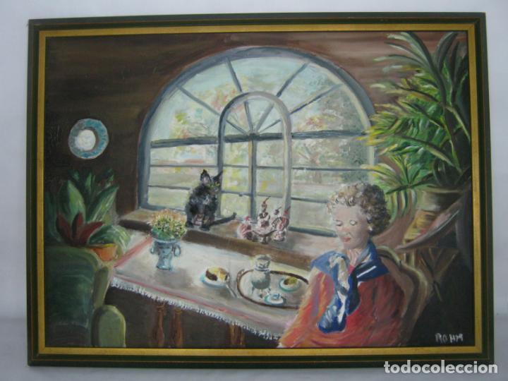 77 CM - BELLA PINTURA AL OLEO FIRMADA (Arte - Pintura - Pintura al Óleo Contemporánea )