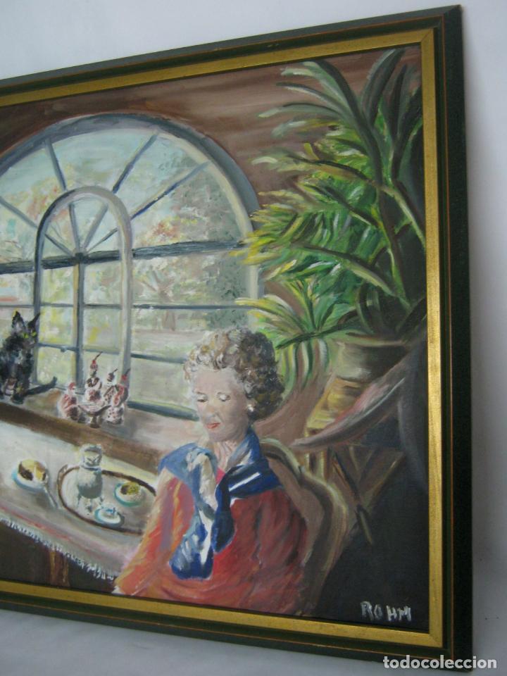 Arte: 77 cm - Bella pintura al oleo firmada - Foto 3 - 130543822