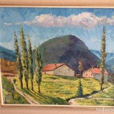 Arte: RAMÓN FUSTÉ, OLEO EN LIENZO, 45X37 CM MÁS MARCO. Lote 130562898
